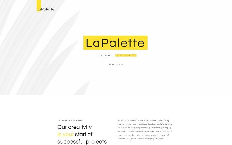 La Palette - Thème Creative Minimal WordPress Elementor