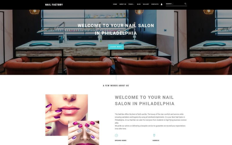 Nail Bar - Attractive Nail Salon Joomla Template