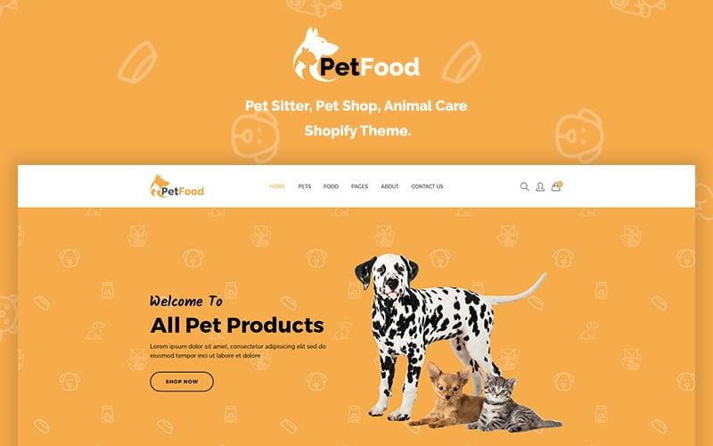 PetFood - Pet Sitter, Shop, Animal Care Shopify Theme