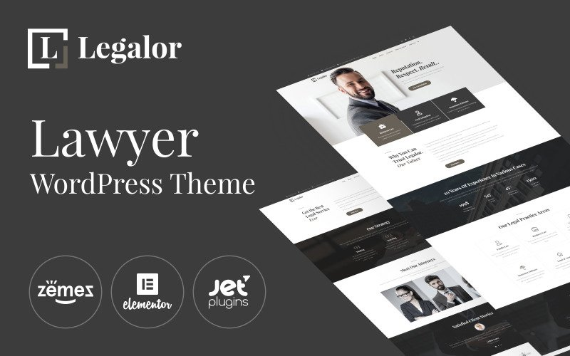 Legalor - Tema de Elementor de WordPress para abogados
