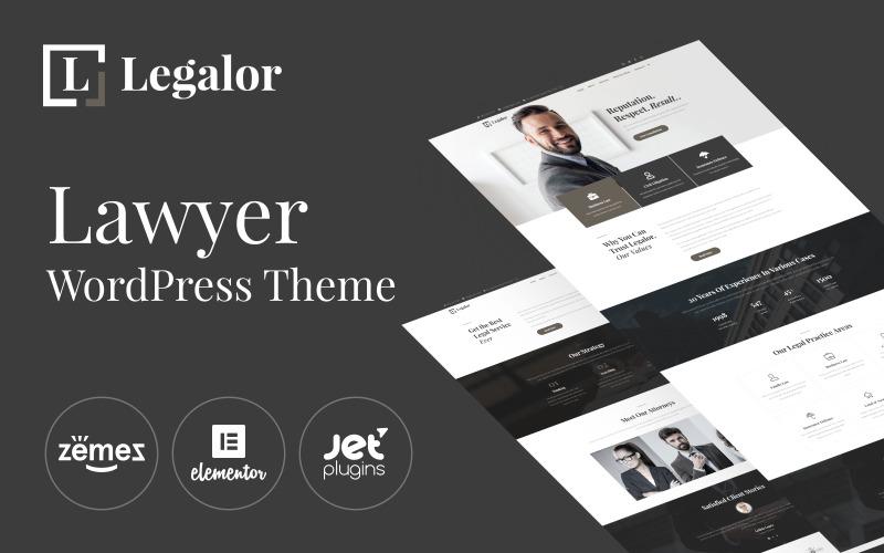 Legalor - тема для юристів WordPress Elementor