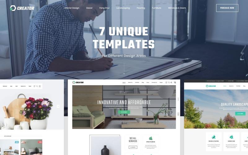 Creator - Diseño de plantilla de sitio web HTML5 multipropósito