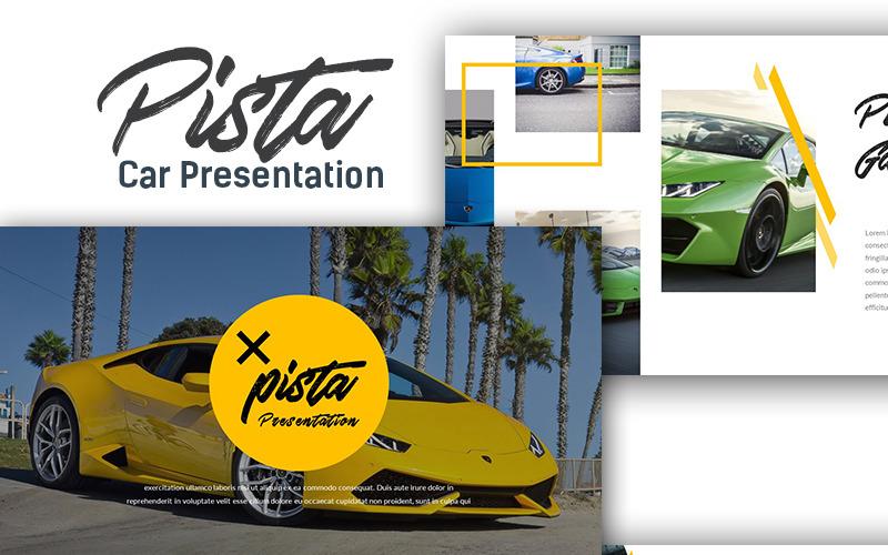 Pista Auto Presentatie PowerPoint-sjabloon