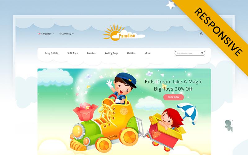 Шаблон OpenCart для магазина Paradise Toys Store