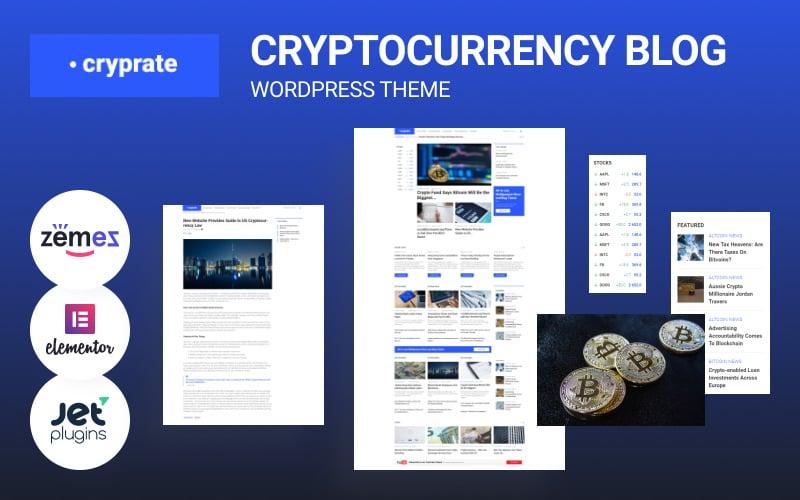 Cryprate - Cryptocurrency Blog WordPress Elementor Theme