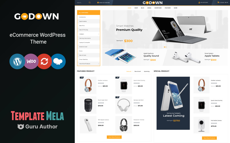 GoDown - Tema WooCommerce multipropósito para electrónica