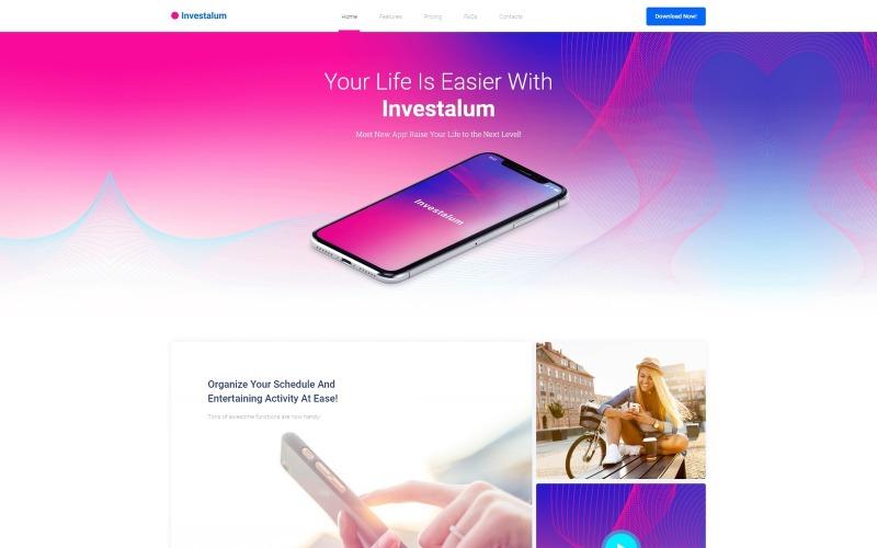 Investalum - Corporate App WordPress Elementor Theme