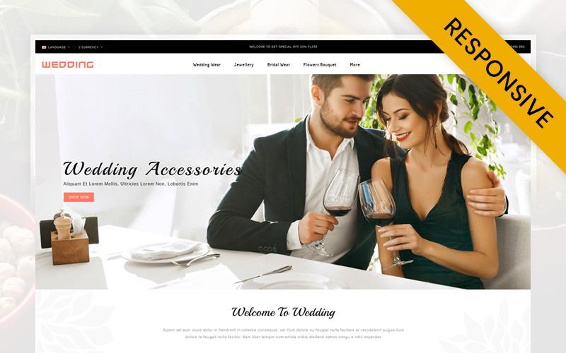 OpenCart шаблон магазина свадебной коллекции