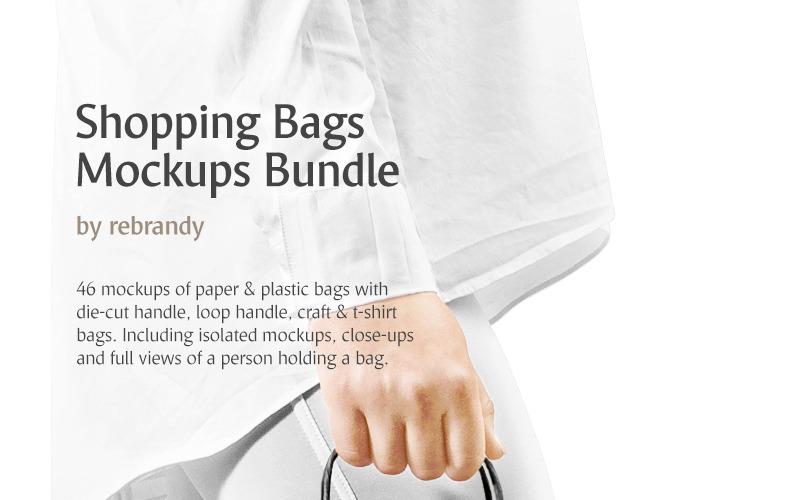 Paquete de maquetas de bolsas de la compra