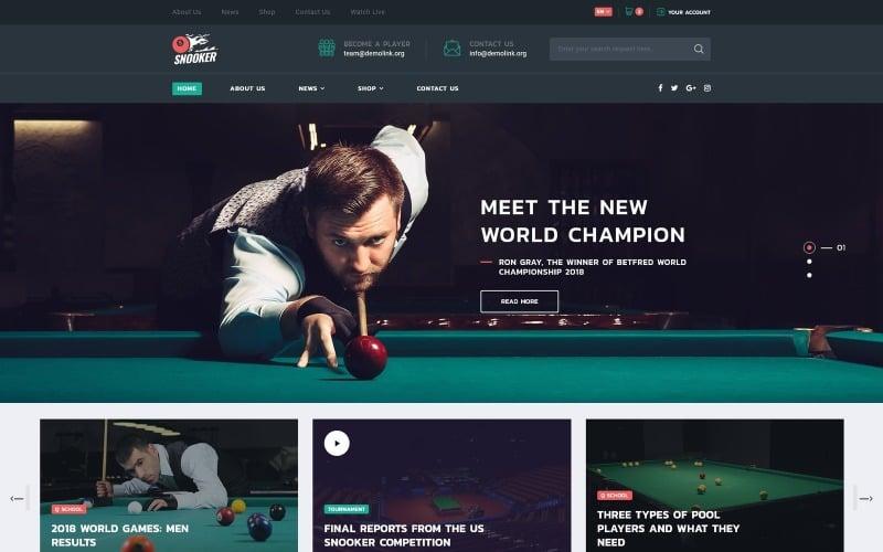 Snooker - Billiard Multipage HTML5 Website Template
