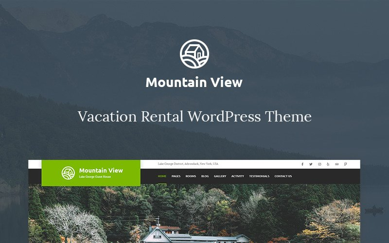 Vacation Rental WordPress Theme - Mountain View