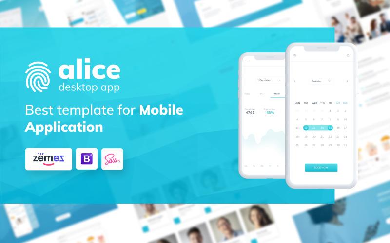 Alice - Webbplatsmall för applikation HTML5