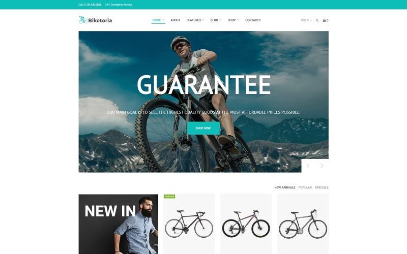 Biketoria - Тема для магазина велосипедов Elementor WooCommerce