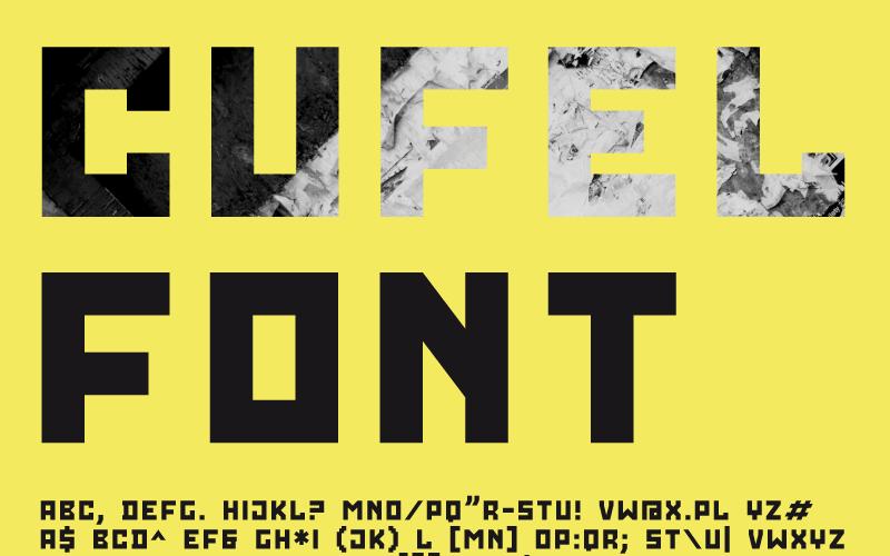 CUFEL creatief lettertype
