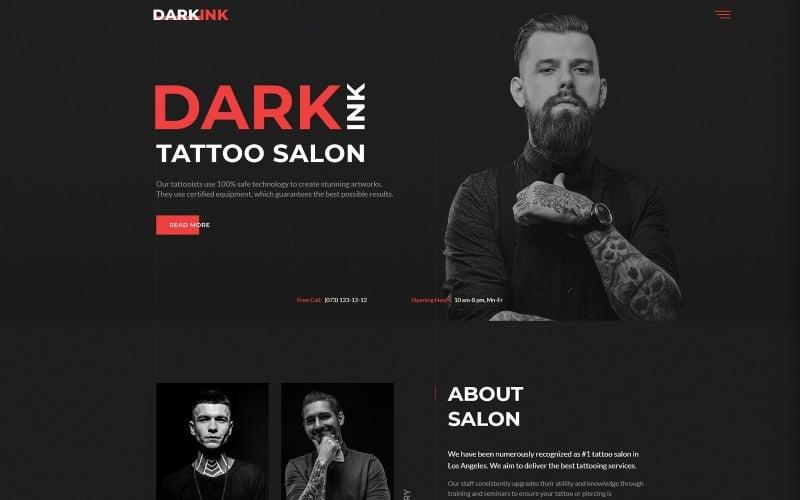 DarkInk - Plantilla de sitio web HTML5 multipágina para salón de tatuajes