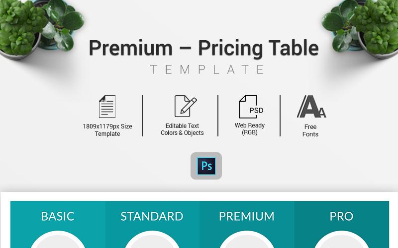 Dominio - Elementos infográficos de la tabla de precios
