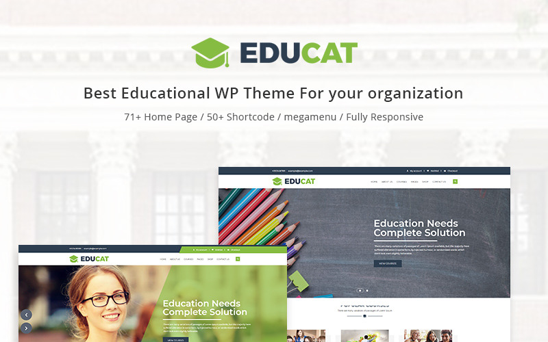 Educat - Utbildning WordPress-tema