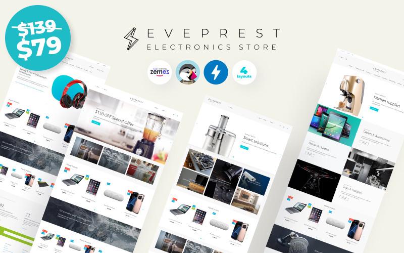 Eveprest Electronics 1.7 - Tema de PrestaShop para tienda de electrónica