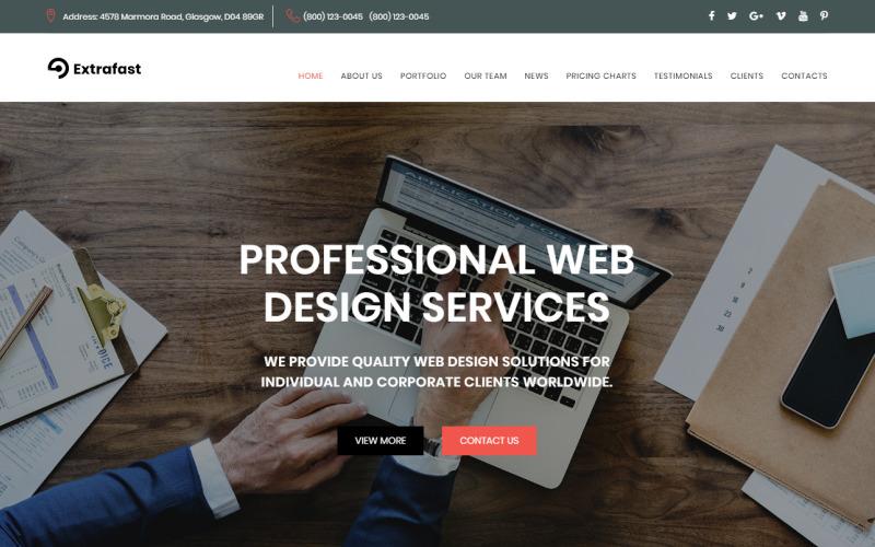 ExtraFast - modelo de página de destino HTML5 do Web Design Studio
