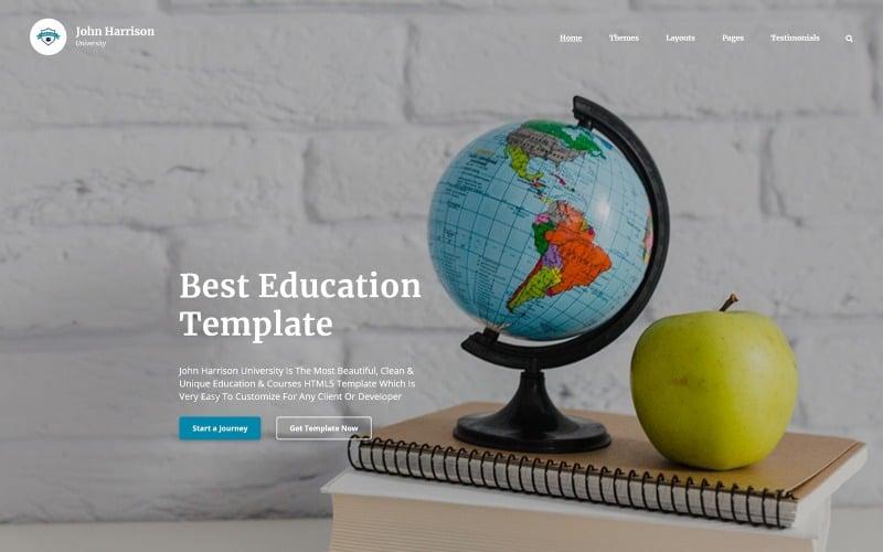 John Harrison - Элегантный многостраничный HTML-шаблон для образовательных учреждений