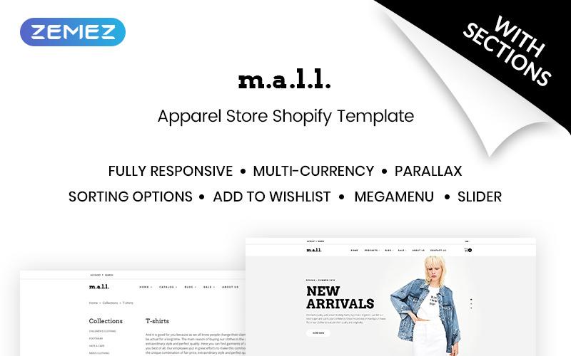 mall - Shopify Тема для магазина одежды