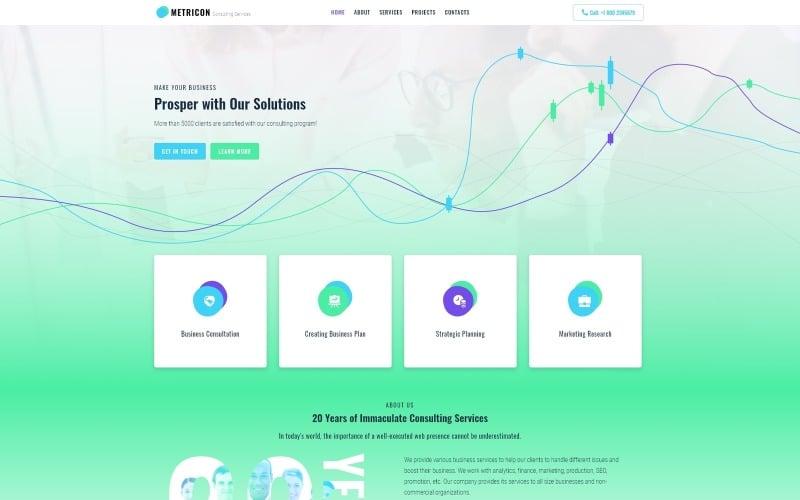 Metricon - Corporate Business WordPress Elementor Theme