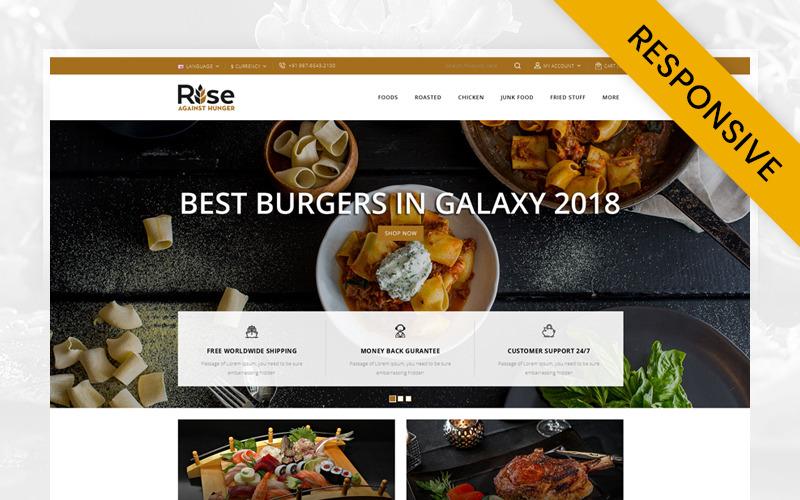 RISE - Élelmiszerbolt OpenCart sablon