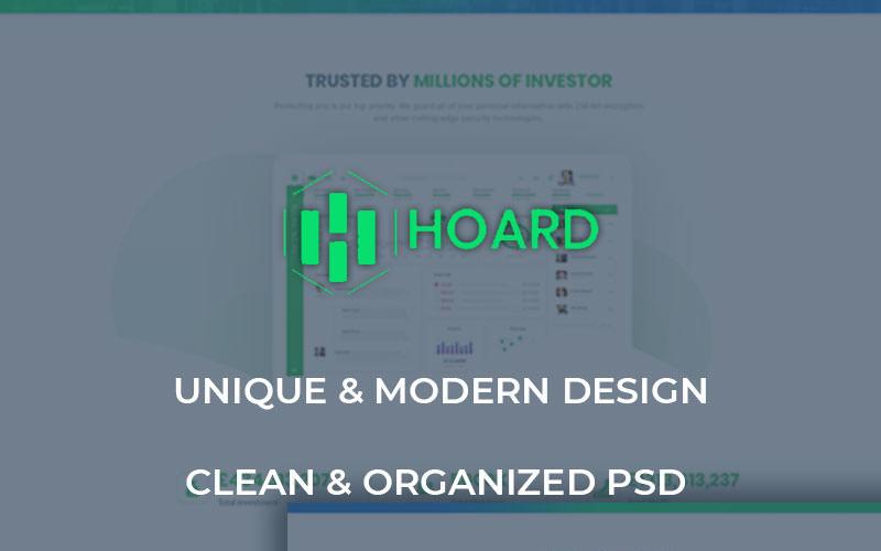 Hoard - Szablon PSD witryny inwestycyjnej
