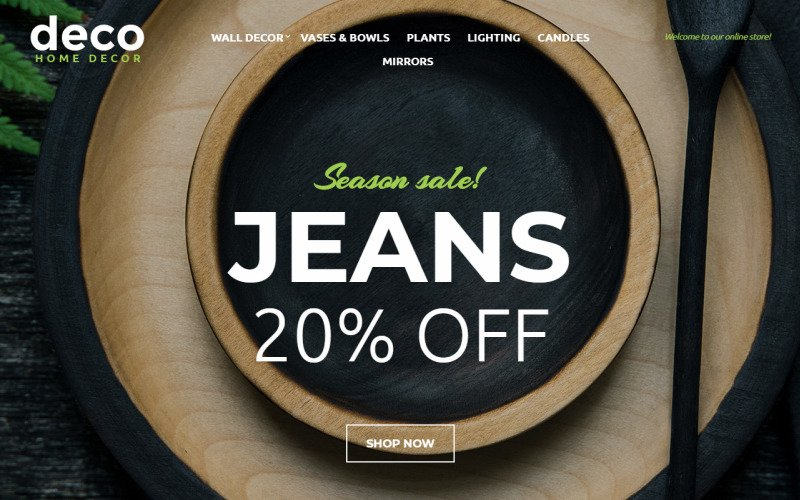 Deco - Interior Design Online Shop OpenCart Template