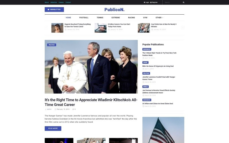 Publicon - News Portal WordPress Elementor Theme
