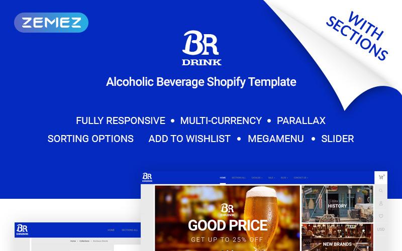 BR Drink - Оригинальная тема Shopify для интернет-магазина алкоголя