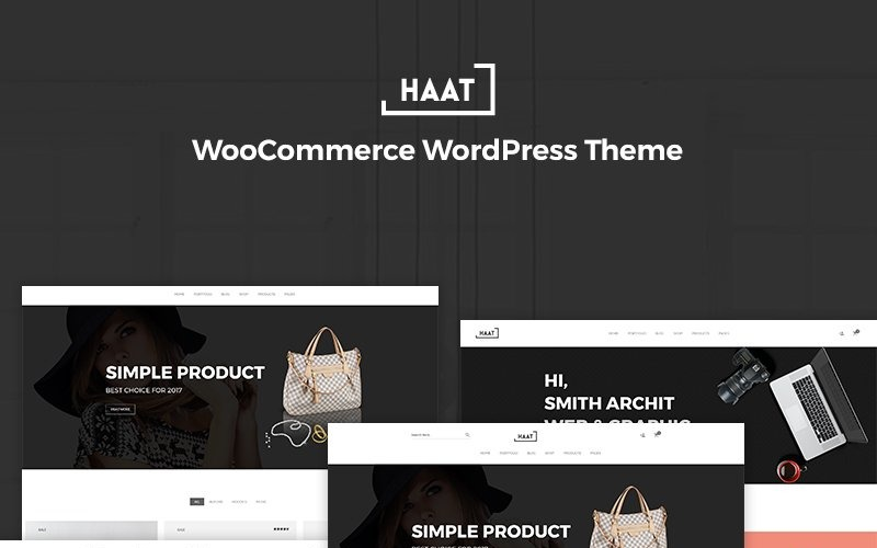 Haat - Minimalistisch WooCommerce-thema