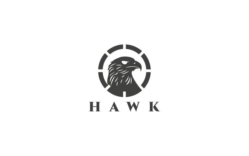 Hawk logotyp mall