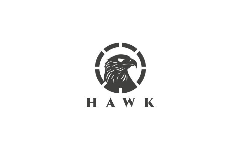 Plantilla de logotipo de halcón
