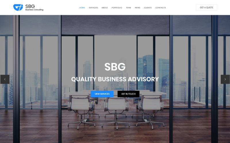 SBG - Modello di pagina di destinazione HTML per consulenza aziendale