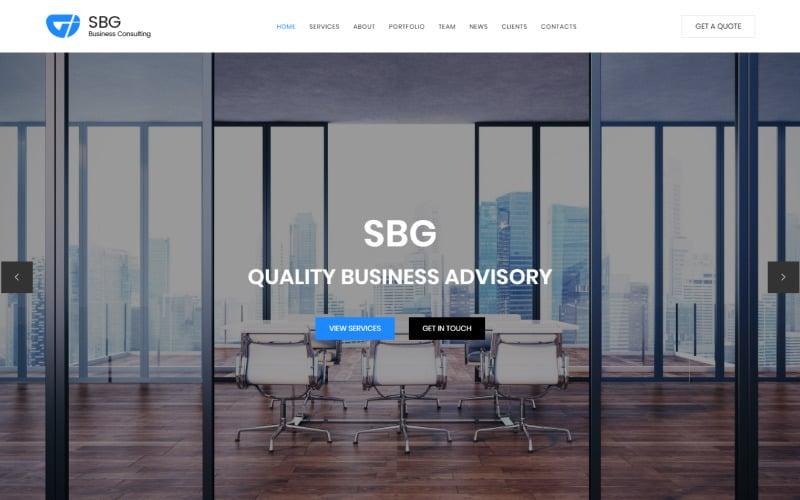 SBG - Шаблон целевой HTML-страницы для бизнес-консультаций