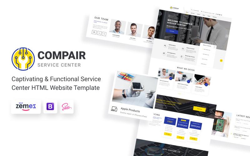 Compair - modelo de site HTML5 de várias páginas da Central de serviços