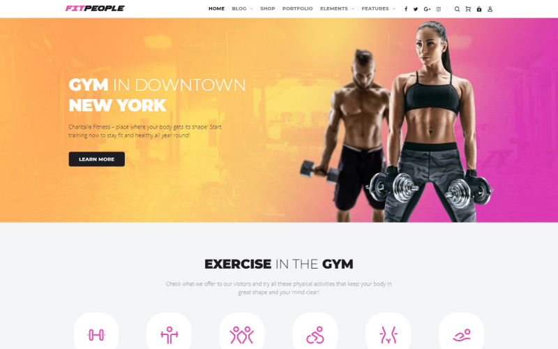 FitPeople - Tema de Elementor de WordPress para fitness