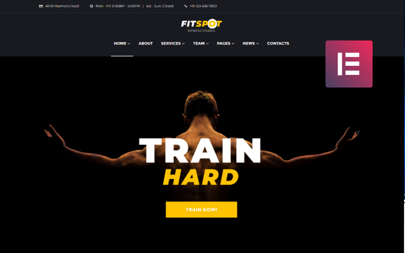 FitSpot - Fitness Studio WordPress Elementor Theme
