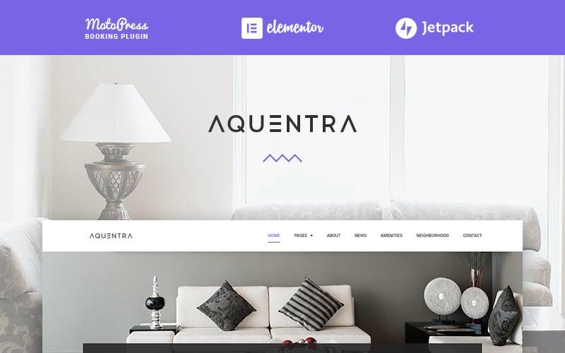 Property Rental Elementor WordPress Theme - Aquentra
