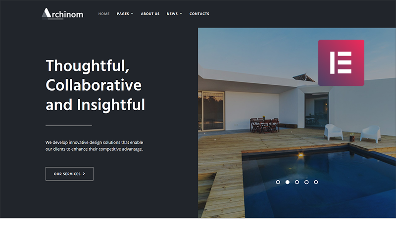 Archinom - Architect WordPress Elementor Theme