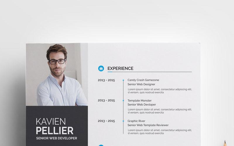 Ren och kreativ Kavien Pellier CV-mall