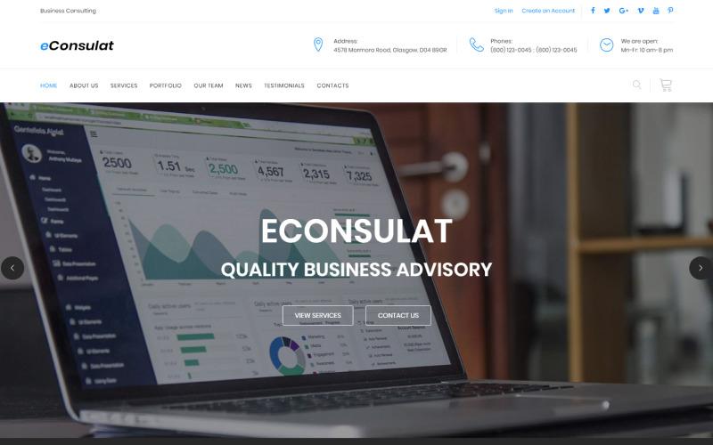 eConsulat - Šablona vstupní stránky HTML firmy Solid Business Company