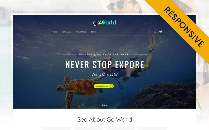 Go World - Plantilla OpenCart para tienda de viajes