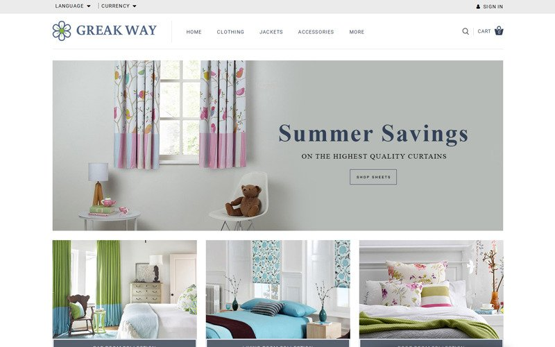 Greak Way - Curtains Store OpenCart Template