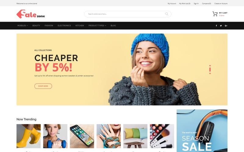 SaleZone - Nagykereskedelmi e-kereskedelmi Magento téma