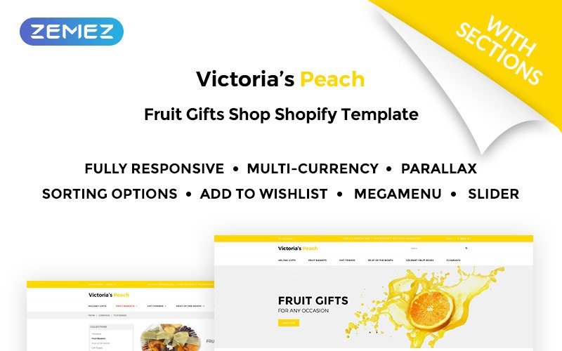 Victorias Peach - Fruit Gifts Shopify Theme