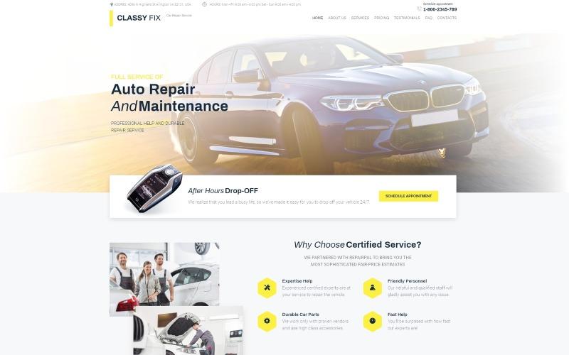 Classy Fix - тема WordPress Elementor для ремонта автомобилей