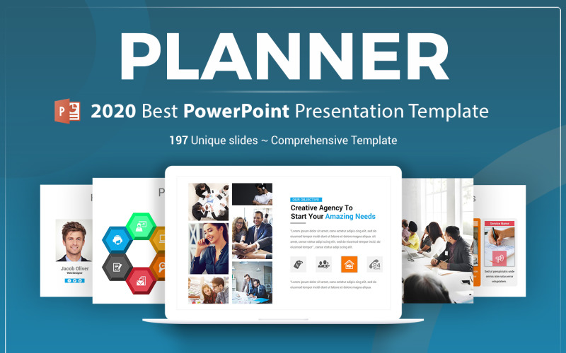 Planner Presentation PowerPoint Template