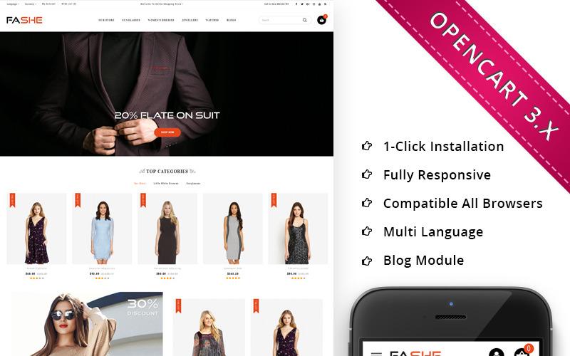 Fashe - Mega Mağaza Duyarlı OpenCart Şablonu